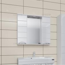 Зеркало  Санта Родос 80 со шкафчиками  свет